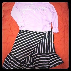 Lavender  & blue skirt. (Silk)